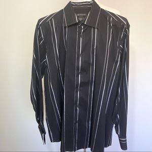 Inc Men's XL Button Down Long Sleeve Shirt Black